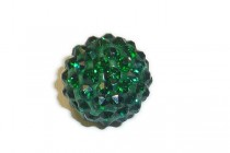Green Emerald Chinese Crystal Pave Round Bead