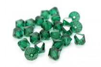 Emerald Swarovski Crystal Bicone Beads 5301/5328 - Factory Pack Quantity