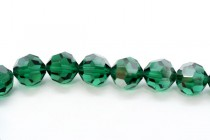 Emerald Satin Swarovski Crystal Round Beads 5000