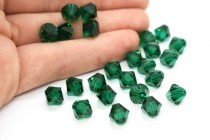 Emerald 5301/5328 Swarovski Elements Crystal Bicone Beads