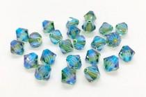 Erinite AB2x Swarovski Crystal Bicone Beads 5301 - Factory Pack