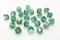 Erinite AB Swarovski Crystal Bicone Beads 5301 - Factory Pack Quantity