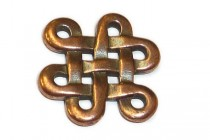 Antique Copper Plated Celtic Eternity Link - TierraCast®
