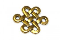 Antique Gold Plated Small Celtic Eternity Link - TierraCast®