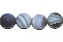 Agate, Natural, Faceted Disco Ball Cut Round Gemstone Beads, Grey