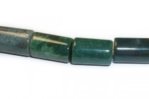 Fancy Jasper (natural) A grade Big Hole Tube Beads