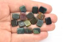 Fancy Jasper (Natural) Flat Rectangle Gemstone Beads