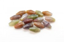 Fancy Jasper (Natural) Six Sided Double Cone Gemstone Beads