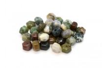 Fancy Jasper (Natural) Six Sided Drum Gemstone Beads