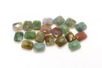 Fancy Jasper (Natural) Faceted Flat Rectangle Gemstone Beads
