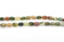 Fancy Jasper (Natural) Rice/Oval Gemstone Beads