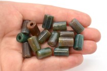 Fancy Jasper (Natural) Tube Gemstone Beads - Large Hole