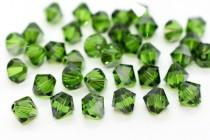 Fern Green Satin 5301/5328 Swarovski Elements Crystal Bicone Bead