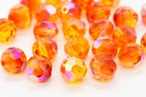 Fire Opal AB  5000 Swarovski Elements Crystal Round Bead