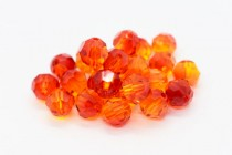 Fire Opal Swarovski Crystal Round Beads 5000 - Factory Pack Quantity