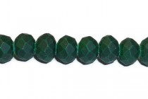 Green (Dark ) Matte Opaque Rondelle Chinese Crystal Glass Beads