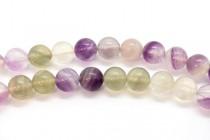 Fluorite (Natural) Smooth Round Gemstone Beads - 12mm