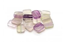 Fluorite (Natural) Flat Rectangle Gemstone Beads