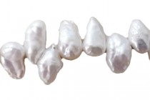 Top Drilled Stick Freshwater Pearls - White - AB Grade