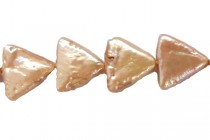 Champagne (Dyed) Flat Triangle Freshwater Pearl Beads