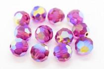 Fuchsia AB2x Swarovski Crystal Round Beads 5000