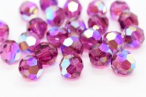 Fuchsia AB 5000 Swarovski Elements Crystal Round Bead