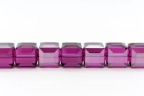 Fuchsia Satin 5601 Swarovski Elements Crystal Cube Beads - 6mm