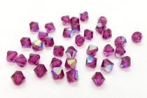 Fuchsia AB 5301/5328 Swarovski Elements Crystal Bicone Bead