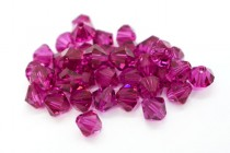 Fuchsia 5301/5328 Swarovski Elements Crystal Bicone Bead