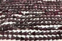 Garnet (Dyed) Beveled Flat Triangle Gemstone Beads
