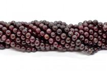 Garnet (Natural) Smooth Round Gemstone Beads - Sale