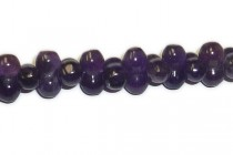 amethyst barbell (natural) a grade gemstone beads