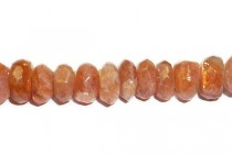Sunstone (Natural) A Grade Faceted Rondell Gemstone Beads