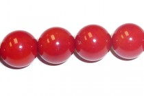 Coral (Bamboo) , Red, dyed , A Grade Round Beads