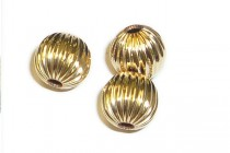 Gold Filled 14K Corrugated Round Bead