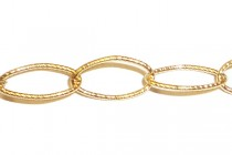 14Kt Gold Filled Textured Oval Chain 4mm x 8mm
