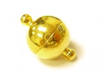 Gold Plate Over Brass Magnetic Ball Clasp