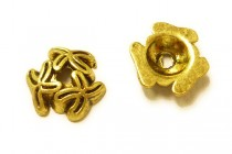 Antique Gold Plated Bead Caps with