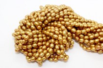 Gold (Dyed) Rice Shaped Freshwater Pearl Beads