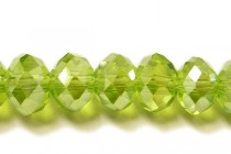 Green Light Olivine AB Rondelle Chinese Crystal Glass Beads