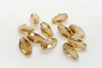 Crystal Golden Shadow,Bead, Swarovski crystals,12x8mm faceted polygon (5203).