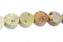 Golden Agate ( Natural ) A Grade Coin / Dime Gemstone Beads