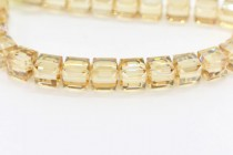 Crystal Golden Shadow 5601 Swarovski Elements Crystal Cube Bead