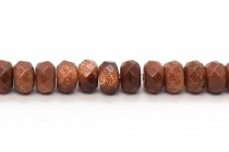 Brown Goldstone (Man Made) Faceted Rondelle Gemstone Beads