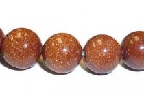 Brown Goldstone ( Man Made ) Round Gemstone Beads