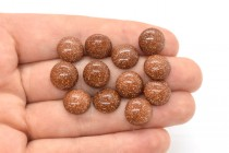 Goldstone (Man Made) Round Flat Back Cabochons
