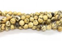 Graphic Granite (Natural) Smooth Round Gemstone Beads