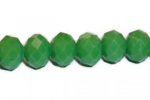 Green Opaque ( Dark ) Chinese Crystal Rondelle Glass Beads
