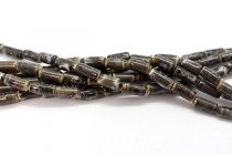 Gray Glazed Porcelain Tube Beads