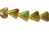 Green & Brown Porcelain Beads Triangle